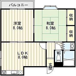 ホースハイツ[2階]の間取り