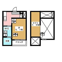 エクセル日ノ宮[2階]の間取り