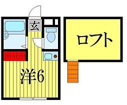 千葉県習志野市津田沼3の賃貸アパートの間取り