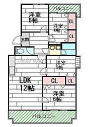ロイヤルハイツ上野西[2階]の間取り