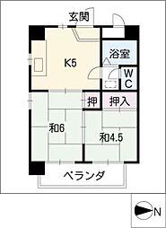 トレンディ・イマII[3階]の間取り