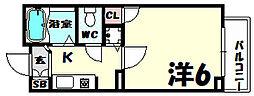 プレサンス神戸裁判所前[9階]の間取り