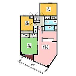 AG HOUSE A棟[1階]の間取り