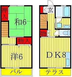 [テラスハウス] 千葉県松戸市秋山 の賃貸【/】の間取り