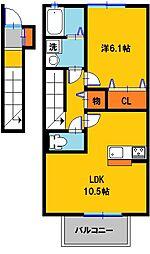 セジュールウィットキャンベル[2階]の間取り