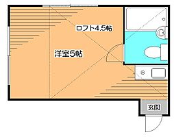 東京都小平市花小金井南町1丁目の賃貸アパートの間取り