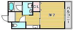 大阪府茨木市新庄町の賃貸マンションの間取り