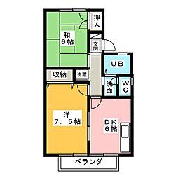セジュール上賀茂[2階]の間取り