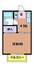 ドミール荒井[1階]の間取り