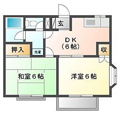 ドミールスズキ幕張本郷[3階]の間取り