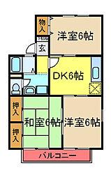 セジュール五井A[202号室]の間取り