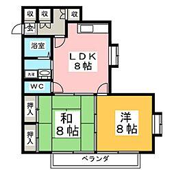 ローレンスパークA[2階]の間取り