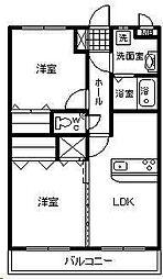 フローランテ2[4階]の間取り