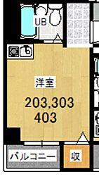 プレアール千舟[203号室]の間取り
