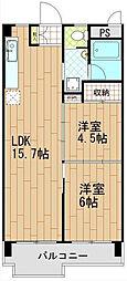 日香苑[3階]の間取り