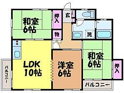 愛媛県松山市古川北4丁目の賃貸アパートの間取り