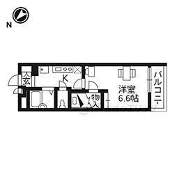 JR東海道・山陽本線 膳所駅 徒歩18分の賃貸マンション 2階1Kの間取り
