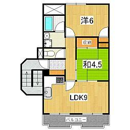 ドルチェ椥辻[3階]の間取り