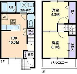 ガーデンハウス オヤケ[102号室]の間取り