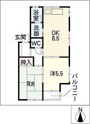 ムーニー木曽川[2階]の間取り