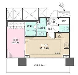 JR山手線 大塚駅 徒歩6分の賃貸マンション 11階1LDKの間取り