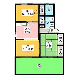 メゾンフォルム B棟[1階]の間取り