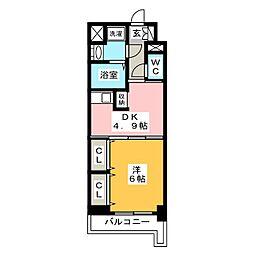 レジデンス19[10階]の間取り