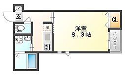 岡山県岡山市北区南方5丁目の賃貸アパートの間取り