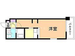 B-STAGE 6階1Kの間取り