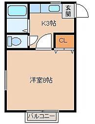 ドミナスA・B[A101号室]の間取り