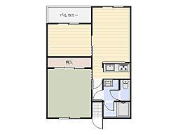 イーストハイツ[1階]の間取り