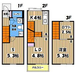 [テラスハウス] 東京都町田市相原町 の賃貸【/】の間取り