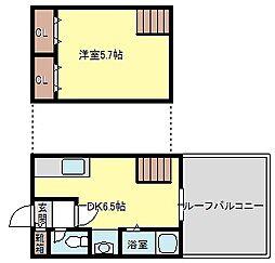 アニマート姫島[703号号室]の間取り