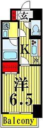 東京都足立区関原1丁目の賃貸マンションの間取り