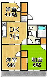 ギャラリーマンション[2階]の間取り