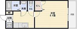 フジパレス八尾[1階]の間取り