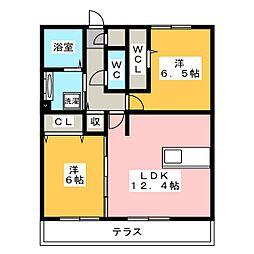 Recente和田 B[1階]の間取り