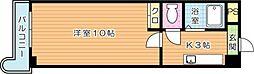 第11エルザビル[16階]の間取り