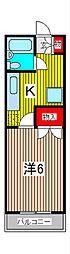 ハイツ大室[2階]の間取り