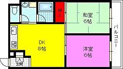 サクシードマエダ[3階]の間取り