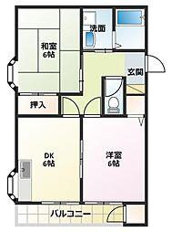 タウンハイツIV[2階]の間取り