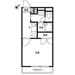東京都日野市栄町5丁目の賃貸アパートの間取り