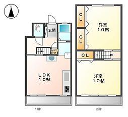 たなばた住宅[4階]の間取り