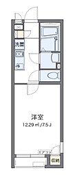 小田急小田原線 本厚木駅 バス11分 船子下車 徒歩6分の賃貸アパート 1階1Kの間取り