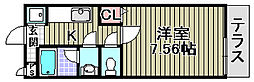 センペル・リンクウ[108号室]の間取り