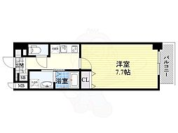 Osaka Metro谷町線 南森町駅 徒歩7分の賃貸マンション 5階1Kの間取り