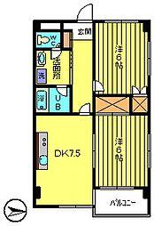 クレセントハイツ[8階]の間取り