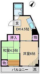メゾンボヌール1[2階]の間取り