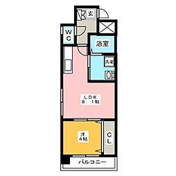 ヴェントゥーノ箱崎[3階]の間取り