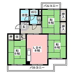 ビレッジ都府楼II[4階]の間取り
